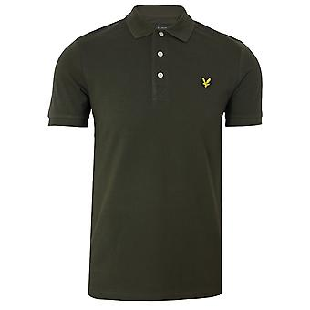 Lyle & scott men's trek green polo shirt