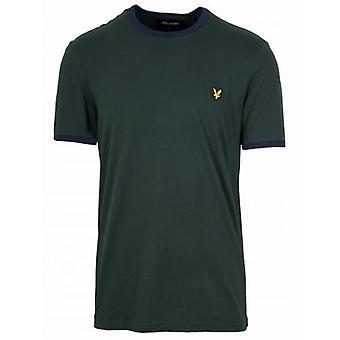Lyle & Scott Jade Vihreä & Navy Ringer T-paita