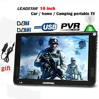 10inch Led Tv Digital Player Dvb T2 Ac3 Analogic Toate într-un singur portabil Tv Programe & Car Charger Suport Usb Tf Cadou