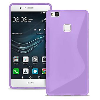 S-Line Case voor Huawei P10 Common Colors Rubber Light Patterned Ultra Thin Purple