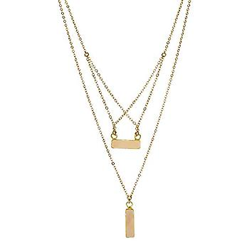 Panacea Peach Rectangle Criss Cross Necklace, One Size, Peach, Size One Size