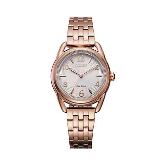 Citizen Watches Fe1213-50a Ladies Eco-drive Silhouette Rose Gold Stainless Steel Watch