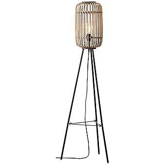 Lampada BRILLIANT Lampada woodrow stand lampada a tre zampe marrone chiaro | 1x A60, E27, 60W, adatto per lampade normali (non incluso)
