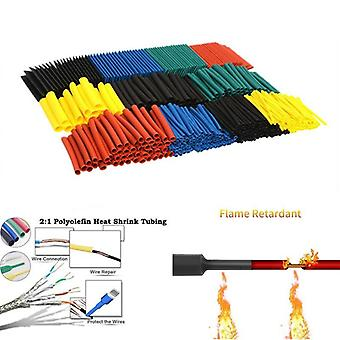 164pcs Assorted Set Polyolefin Heat Shrink Tube For Wire Cable 8 Sizes 2:1 S