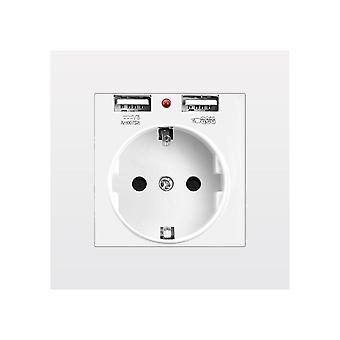 Eu Power Socket With Usb Charging Port - Pc Panel