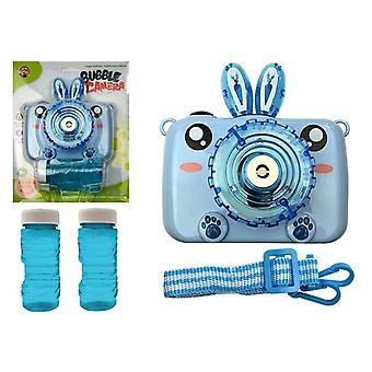 Bellenblaas camera blauw met bellenblaas sop