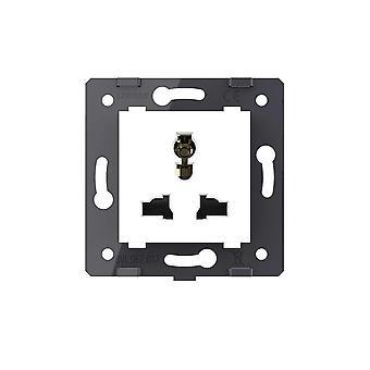 Vit färg Multifunktion Eu Standard Socket 3 pins nyckel för vägguttag