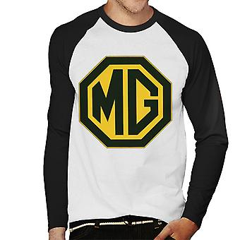MG Zwart en Goud Logo British Motor Heritage Men's Baseball Long Sleeved T-shirt
