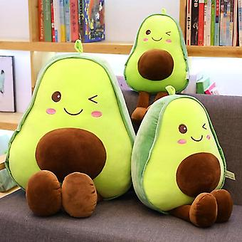 Cute Beautiful Avocado Fruit Plush Plant Toy Cartoon Boy Girl Anti-stress Pad