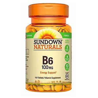 Sundown Naturals Vitamin B-6, 100 mg, 12 X 150 Tabs