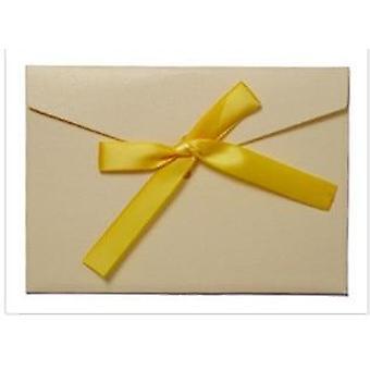 Papel pérola vintage, bow wallet envelopes curto/longo estilo