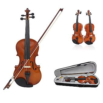 4/4 Full Size Natural Acoustic Violin Fiddle Craft With Case Mute Bow 4-string