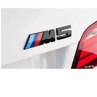 Gloss Black BMW M5 Letters Rear Boot Lid Trunk Badge Emblem For E28 E34 E39 E60/61 F10 F90 115mm x 25mm