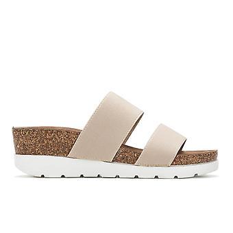 Madden Girl Womens Nikkii Fabric Open Toe Beach Slide Sandals