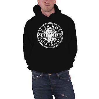 Biggie Smalls Hoodie Bad Boy Logo 20 Years new Official Mens Black Pullover