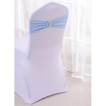 Sash Bands Chair Cover With Buckle For Banquet Decoration