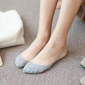 Women Lace Breathable Non-slip High Heels Boat Sock
