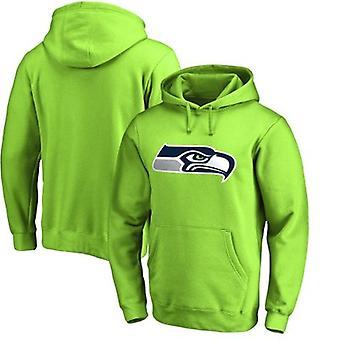 Seattle Seahawks Loose Hooded Sweatshirt Hoodie Tops WYK023