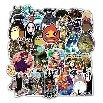 30/10/50pcs Desenho animado impermeável Totoro Spirited Away Stickers Skateboard,