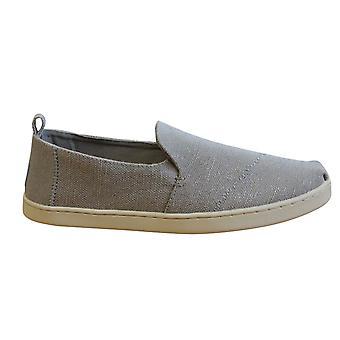 Toms Deconstructed Alpargata Grey Slip On Womens Espadrille Shoes 10011735