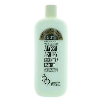 Alyssa Ashley Green Tea Essence Hand & Body Moisturiser 750 ml
