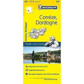 Correze Dordogne  Michelin Local Map 329 Map Michelin Local Maps 329