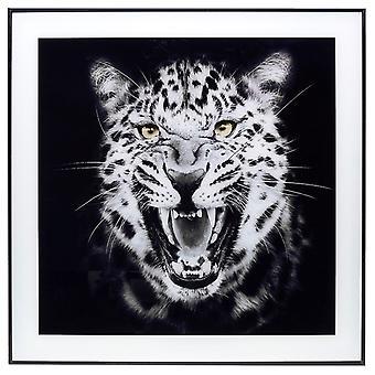 Decor Picture Square Large Growl Leopard