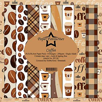 Paper Favourites Coffee 12x12 Inch Paper Pack
