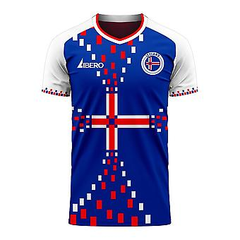 Iceland 2020-2021 Home Concept Football Kit (Libero) - Adult Long Sleeve