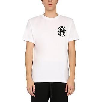 Marcelo Burlon Cmaa018r21jer0050110 Men's White Cotton T-shirt