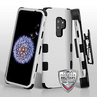 MYBAT Natural Gray/Black TUFF Hybrid Phone Protector Cover(w/ Holster) para Galaxy S9 Plus