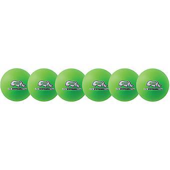 Rhino Skin 6-inch Low Bounce Dodgeball Set, Neon Green, Set de 6