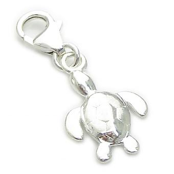 Tiny Turtle Na Clip Sterling Srebrny Urok .925 X 1 Żółwie Charms - 7059