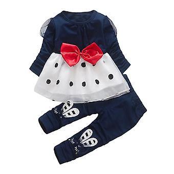 2 unids bebé niñas top y pantalones traje