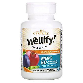 2000-talet, Wellify, Men's 50+ Multivitamin Multimineral, 65 tabletter