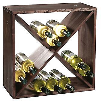 Fsc® houten wijnflessen legbordsysteem voor 20 wijn flessen
