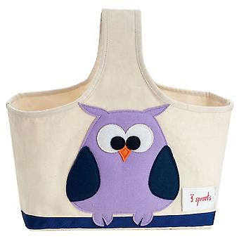 3 Sprouts Bag with handle - Owl