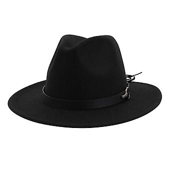 Fedora Hats Vintage Wide Brim Hat With Belt Buckle Adjustable Outbacks Hats