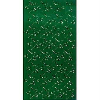 """1/2"""" Green (250) Presto-Stick Foil Star Stickers"""