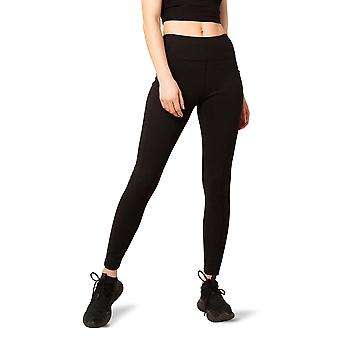 Women's High-Waist Ribbed Fleece Legging with Side Pockets for Phone and 25-Inch Inseam
