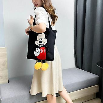 Mickey Mouse Trend Handbags, Casual, Colorful Bag, Minnie Portable Canvasbag,