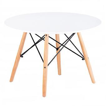 Scandinavische salontafel 60cm wit - rond blad