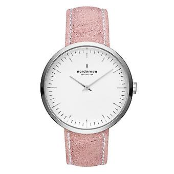 Nordgreen Ladies Infinity Leather Silver 32mm Watch IN32SILEPIXX