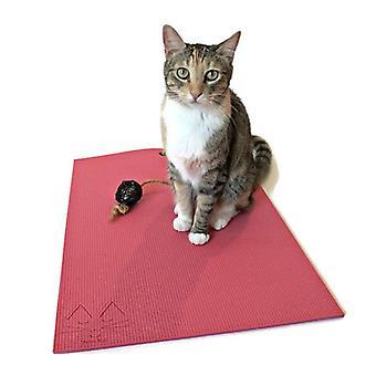 Feline Yogi Yoga Cat Mat -pink