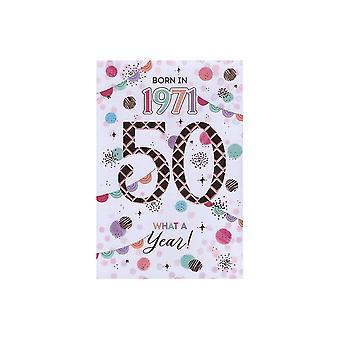 ICG Ltd 2021 Female 50 Year You Were Born Birthday Card