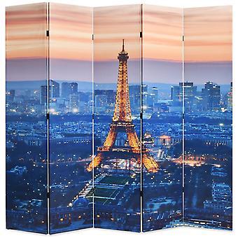 vidaXL部屋の分け切りは200 x 170 cmパリの夜に折り畳み可能