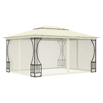 vidaXL pavillon avec rideaux 300x400x265 cm crème
