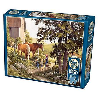 Cobble hill puzzle - summer horses  - 500 pc