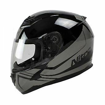 Nitro N2400 Rogue Full Face Motorcycle Helmet Black Gun