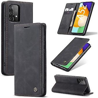 FengChun Hülle Kompatibel mit Samsung Galaxy A52 5G / 4G, Lederhülle PU Leder Flip Tasche Klappbar